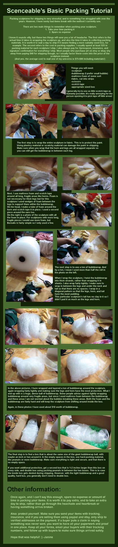 Sculpture Packing Tutorial by scenceable