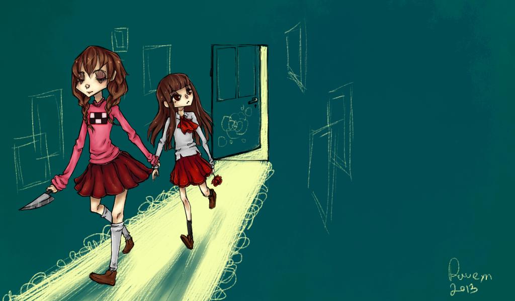 through the door by Ravenku