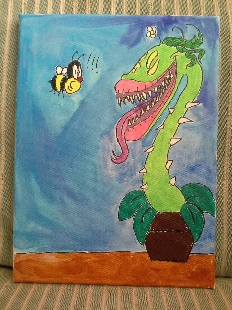 The Bee and the Plant by Shoonah101Drawings