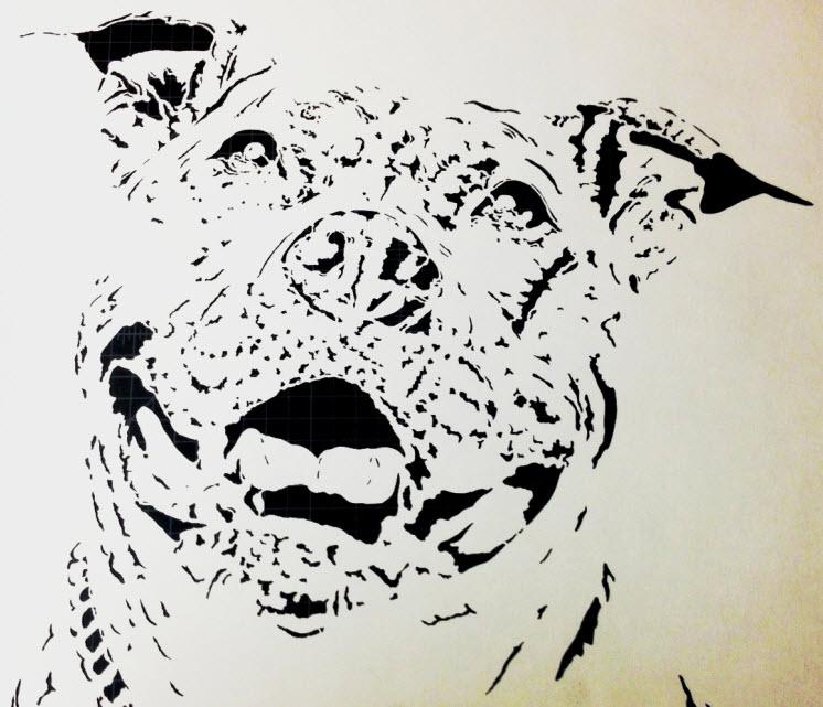 Pit Bull - stencil by writerbryce1980 on DeviantArt