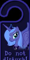 Season 1 Princess Luna Door Knob Hanger by Thorinair