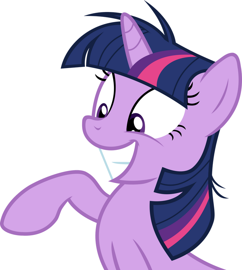 Crazy Smiling Twilight Sparkle Vector by Thorinair