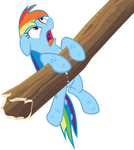 Soaked Rainbow Dash Vector