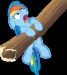 Soaked Rainbow Dash Vector