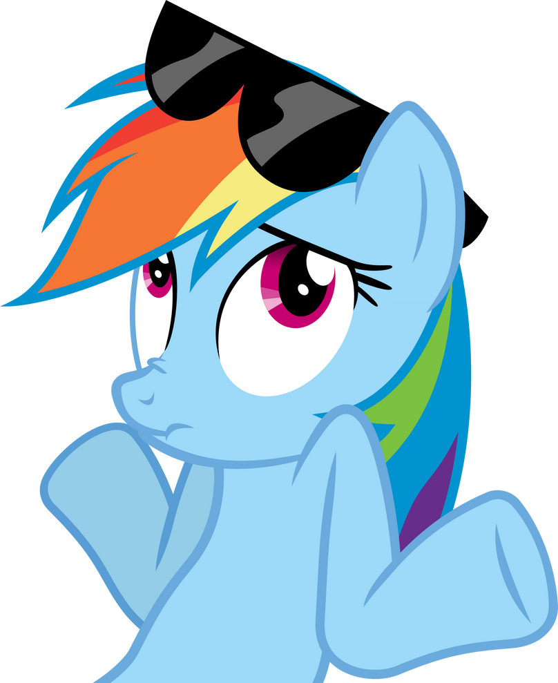 Rainbow Dash Shrug Vector by Thorinair