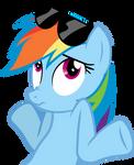 Rainbow Dash Shrug Vector