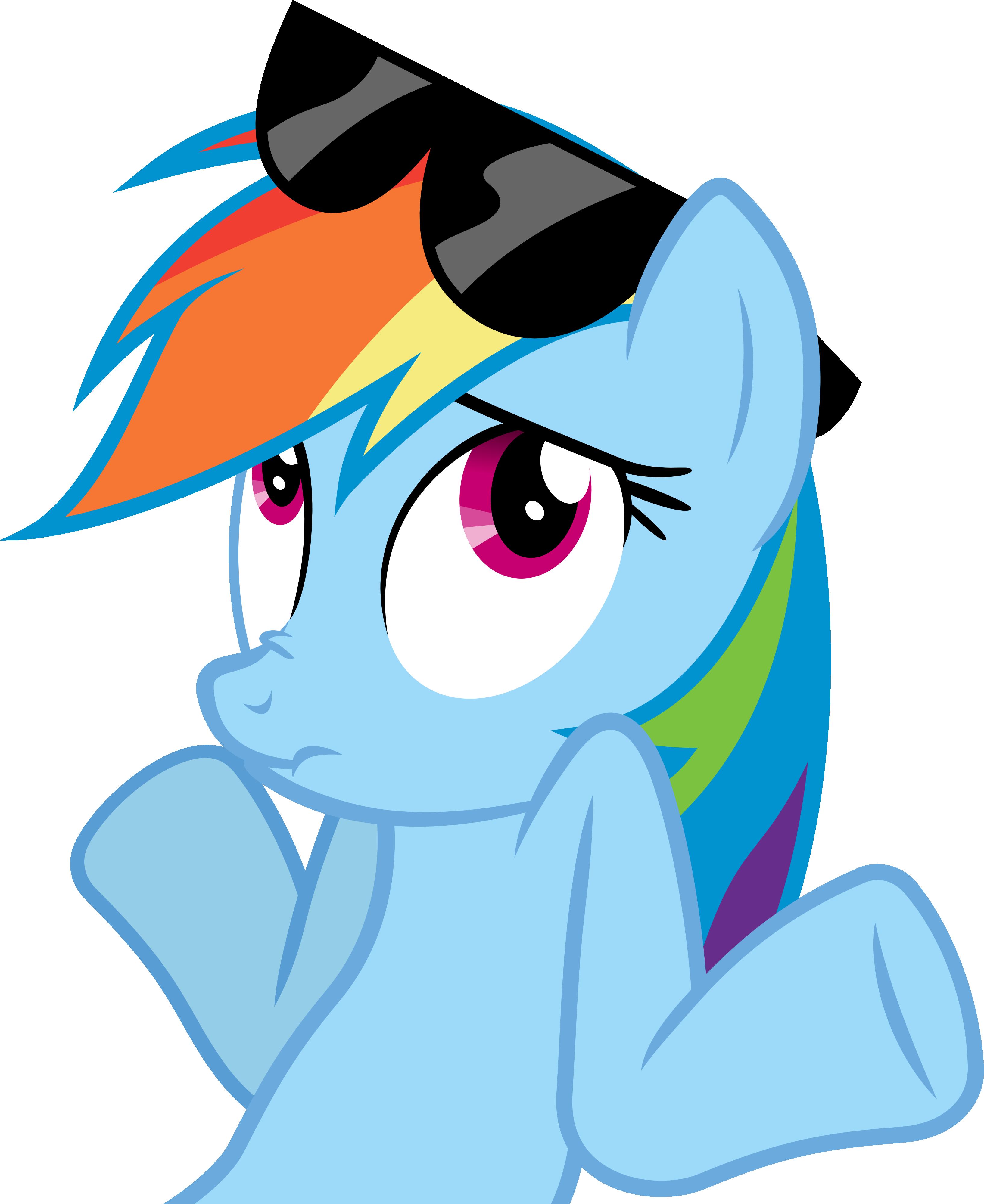 Rainbow Dash Shrug Vector by Thorinair