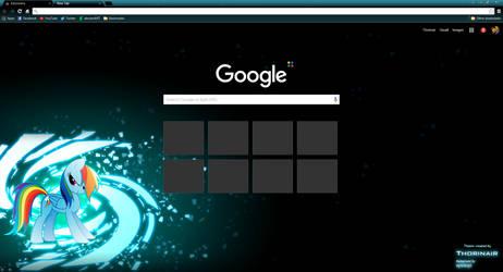 Rainbow Dash Google Chrome Theme by Thorinair