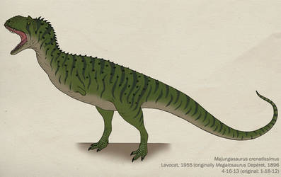006--MAJUNGASAURUS CRENATISSIMUS by Green-Mamba