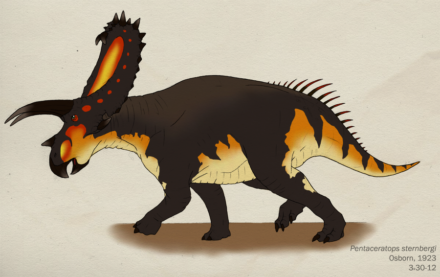 026--PENTACERATOPS STERNBERGII by Green-Mamba