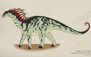 031--AMARGASAURUS CAZAUI by Green-Mamba