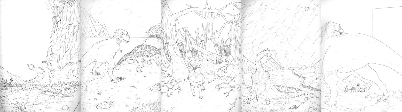 DINOVERSE Character shots Mk.II (now w/dinosaurs)