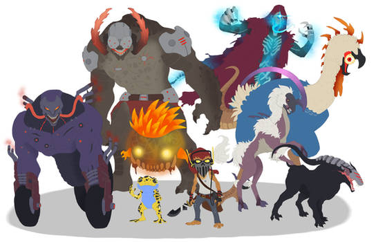 Final Fantasy Concept -- Some Monsters