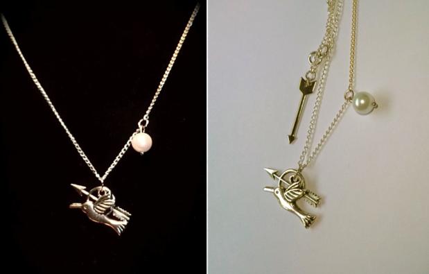 Mockingjay necklace by valethia on deviantart mockingjay necklace by valethia aloadofball Images