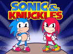 Sonic and Knuckles in Rubber Hose Style