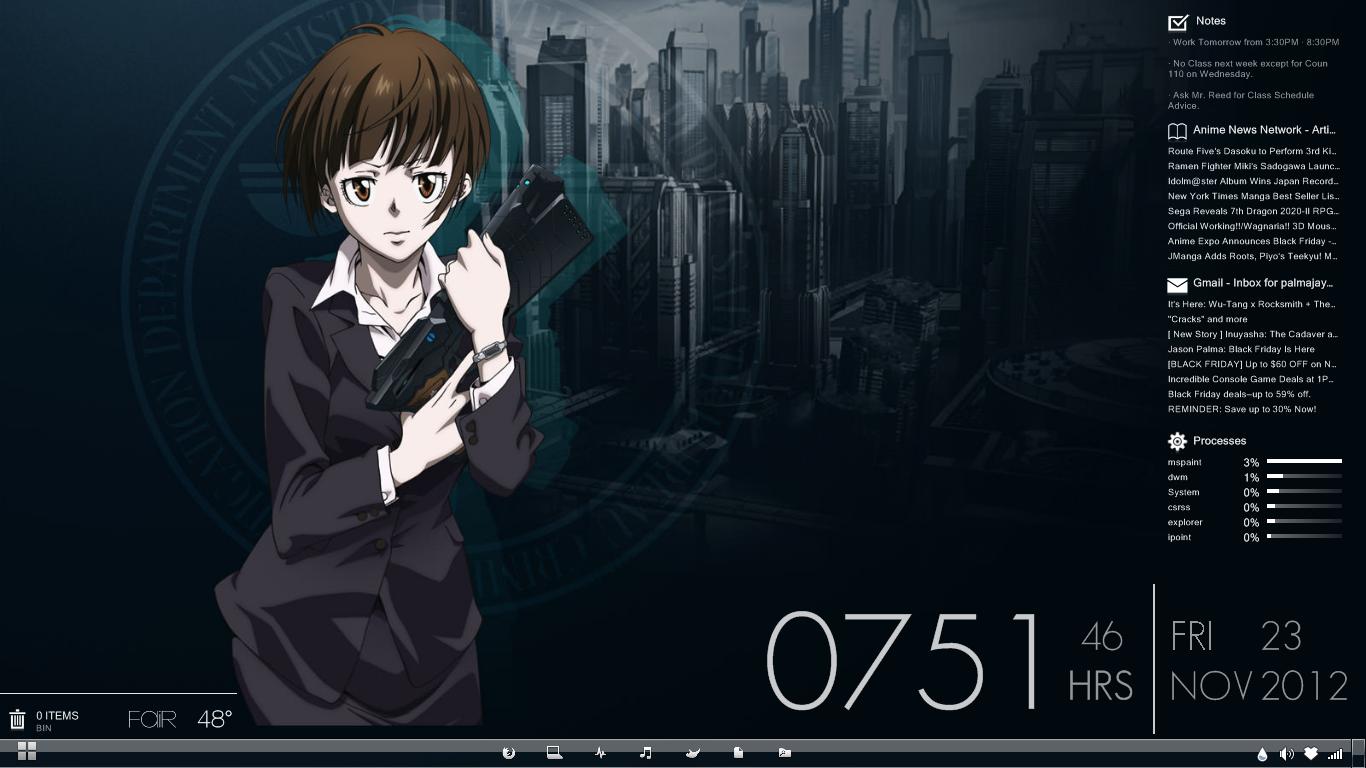 Gmail theme anime -  My Psycho Pass Themed Desktop By Kidvicious18