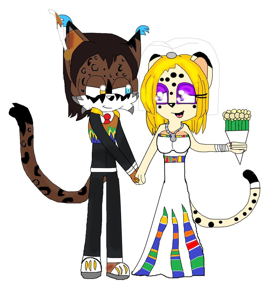 Gift: Dark and Karia's wedding. by DarkCatTheKhajjit