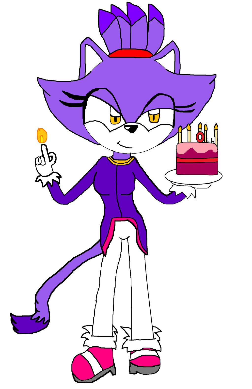 10th anniversary of blaze the cat by darkcatthekhajjit on for Blaze cartoni