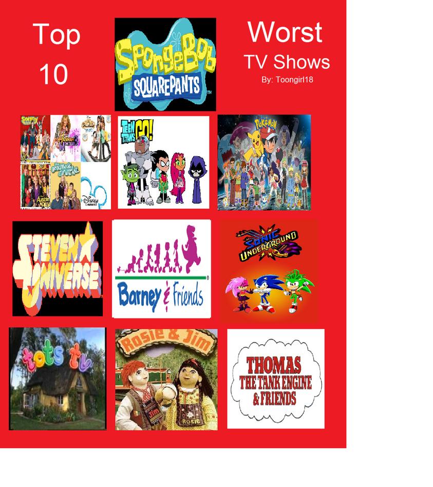 Aaron's Top 10 Worst TV Shows by DarkCatTheKhajjit