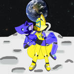 CE: SkyexSonia - Couples on the Moon by DarkCatTheKhajjit