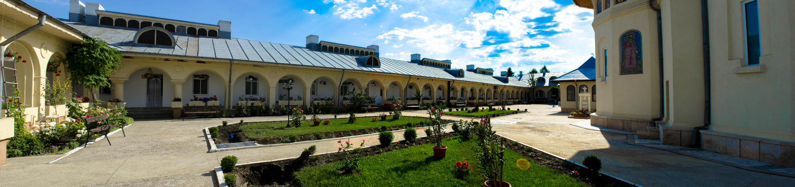 Romania Monastery inside PANORAMA