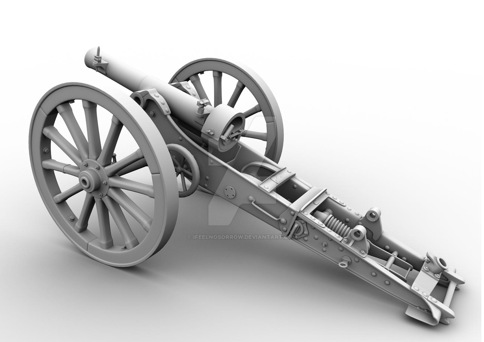 7cm mountain - mortar WWI by iFeelNoSorrow