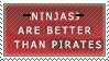 NINJAS beat pirates by fattmattkaz