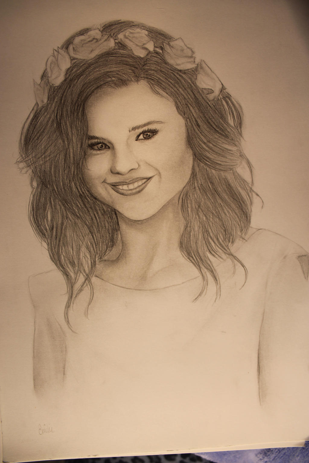 Selena gomez drawing by EmilleMaMulle on DeviantArt