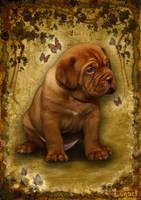 Puppy Dogue De Bordeaux. by LogartRU