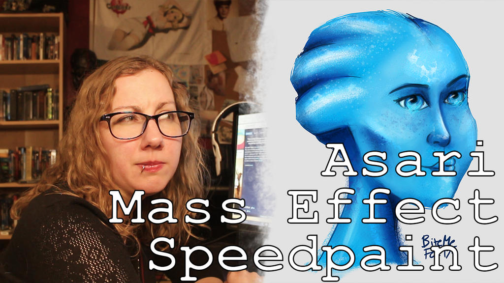Asari Liara Mass Effect Speedpaint Video by BiteMeFox