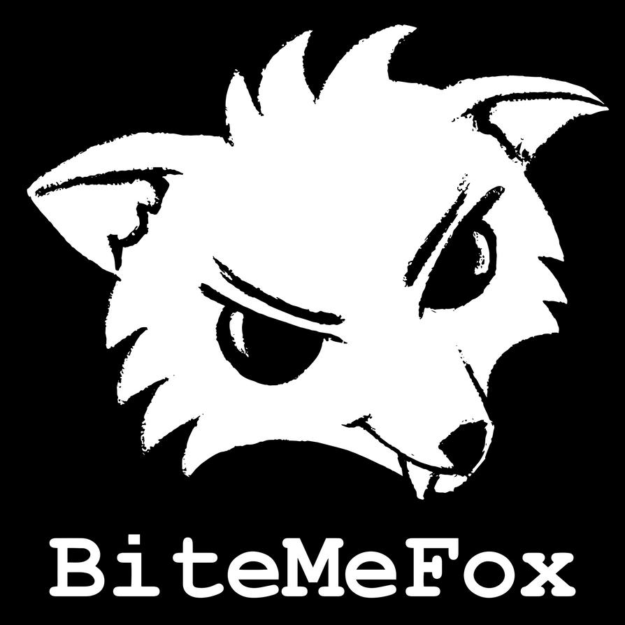 BiteMeFox Logo BW by BiteMeFox