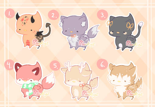 (CLOSED) Fall Theme Griffion Kittens