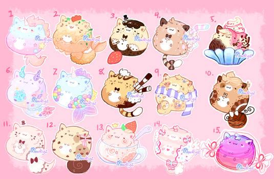 CLOSED Dessert Kitties (Flat Price)