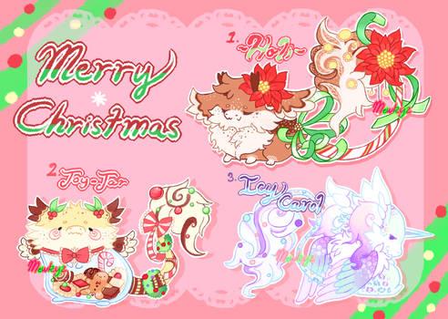 (CLOSED) Christmas Dragon Drops (Flat sale)