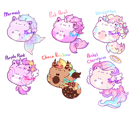 (CLOSED) Rainbow Immersion Kitties -  Flat Sale