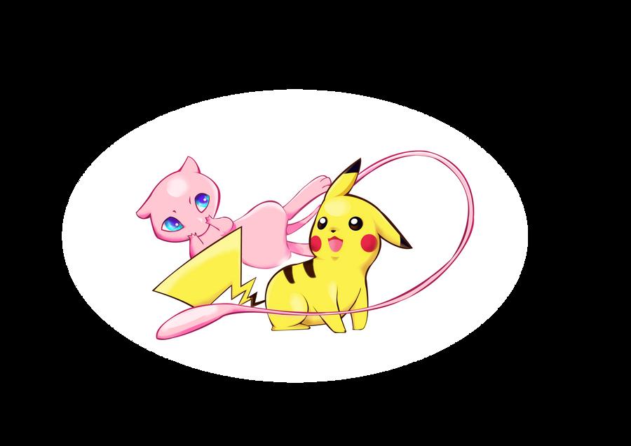 [Fan Arts] Les Fanarts de MadEye ! Raiponce Pikachu_and_mew_by_madeye01-d4ntmbp