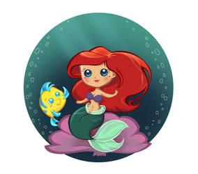 Ariel on shell by MadEye01