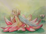Waterlily fairy awakening