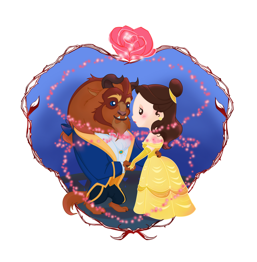 Beauty And The Beast Cutie Couple By MadEye01