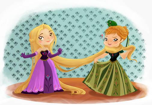 Rapunzel and  Anna