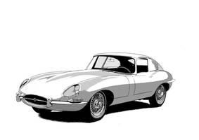 Jaguar Type E by The-Hige
