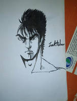 Inktober#6 Kenshiro by The-Hige