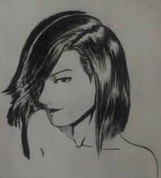 Inktober#8 Saeko Nogami by The-Hige