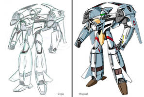 Macross Vf-4 Training rough by The-Hige