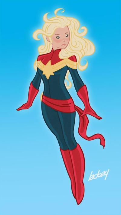 Captain Marvel by dlack