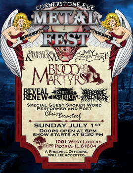 Cornerstone eve Metal Fest poster