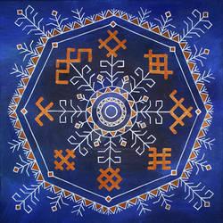 Latvian folk symbols - Solar year