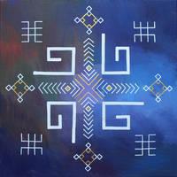 Latvian folk symbols - sacral soul swastika
