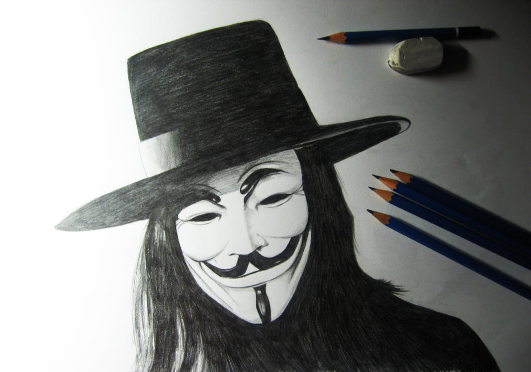 V For Vendetta Mask Drawing V for Vendetta by Finihous