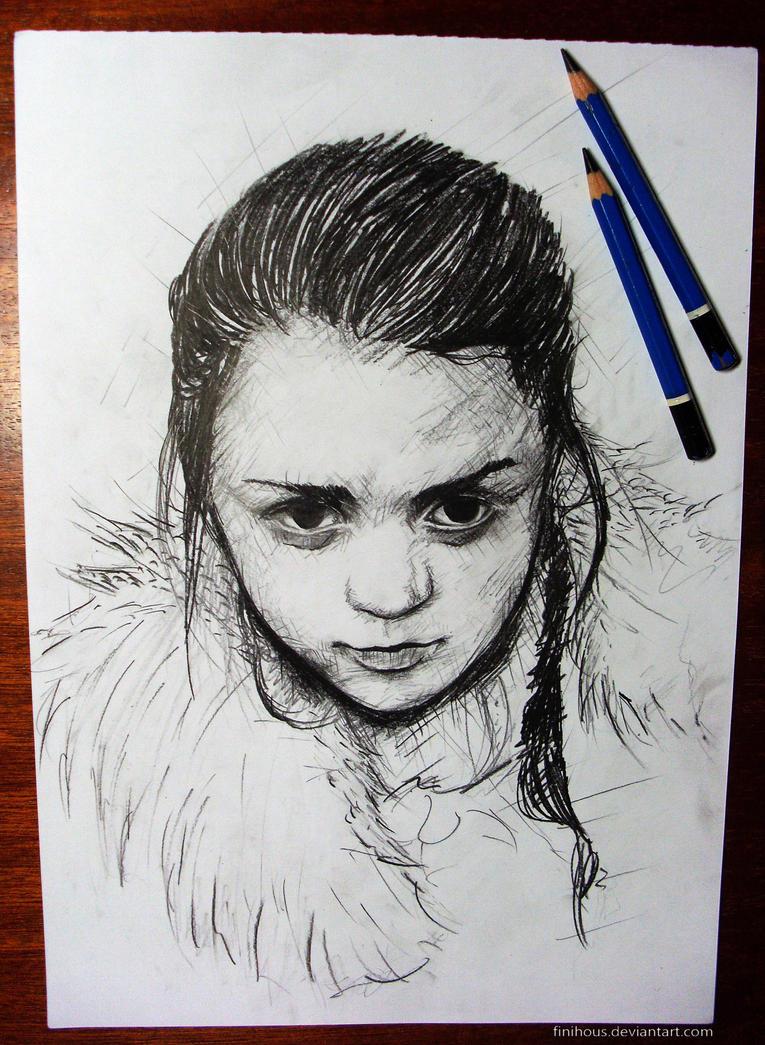 Arya Stark sketch by Finihous